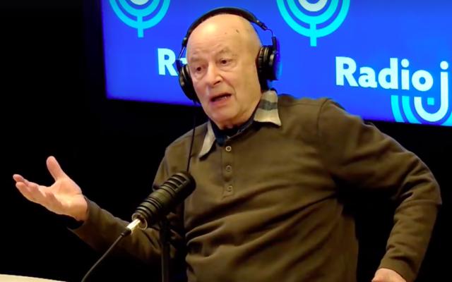 Semyon Mirsky au micro de Radio J en janvier 2020. (Capture d'écran Facebook)
