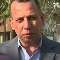 Hicham al-Hachémi, spécialiste des mouvements jihadistes, lors d'une interview à Bagdad en février 2019. (AFPTV / AFP)