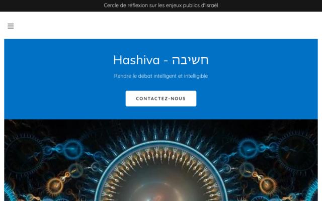 La une du site Hashiva.org.