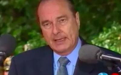 Jacques Chirac lors des cérémonies du 53e anniversaire de la rafle du Vel d'Hiv, le 16 juillet 1995.(Capture d'écran INA)