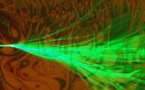 Flux ramifié, avec des bulles à l'arrière-plan, observé au microscope au Technion - Institut de technologie d'Israël. (Autorisation du Technion - Institut israélien de technologie)