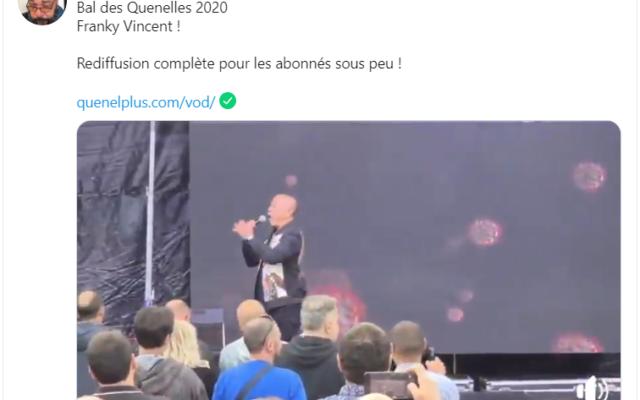 Un tweet de Dieudonné dans lequel il annonce la participation du chanteur Francky Vincent à son «Bal des quenelles» 2020. (Crédit : Twitter)