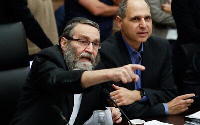 Le ministre de la Commission des Finances  Moshe Gafni (Crédit : Olivier Fitoussi/Flash90)