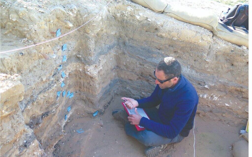 Monticules d'ordures à la périphérie de Haluza, ville du Néguev de l'époque byzantine. (Guy Bar-Oz/Université de Haïfa)