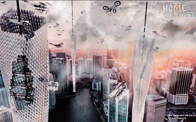 Le Projet«Homemobile» de Dalit Vinogradski et Lior Shemtov, lauréat du 8e Prix d'architecture international Michel Gelrubin 2020 de l'Université de Tel Aviv. (Crédit :Michel Gelrubin Architecture Prize)