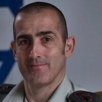 Le colonel Doron Ben-Barak, qui a été nommé pour servir au poste de prochain censeur militaire, le 9 juillet 2020 (Armée israélienne)