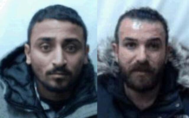 Yazen Abu Salah, (à gauche), et Muhammad Abu Salah, (à droite), qui, selon le Shin Bet, faisaient partie d'une cellule terroriste du Front populaire pour la libération de la Palestine planifiant des attaques sur des cibles israéliennes en Cisjordanie et en Israël, sur des photographies non datées. (Shin Bet)