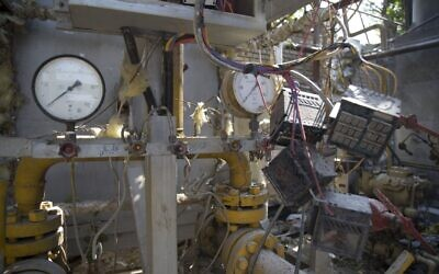 Une photographie prise le 7 juillet 2020 montre le site d'une explosion d'une usine d'oxygène dans la ville de   Baqershahr, au sud de la capitale Tehéran (Mehdi KHANLARI / FARS NEWS / AFP)