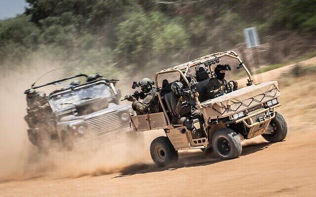 Des soldats de l'Unité Shaldag d'élite de l'Armée de l'Air israélienne participent à un exercice sur cette photo sans date. (Armée israélienne)