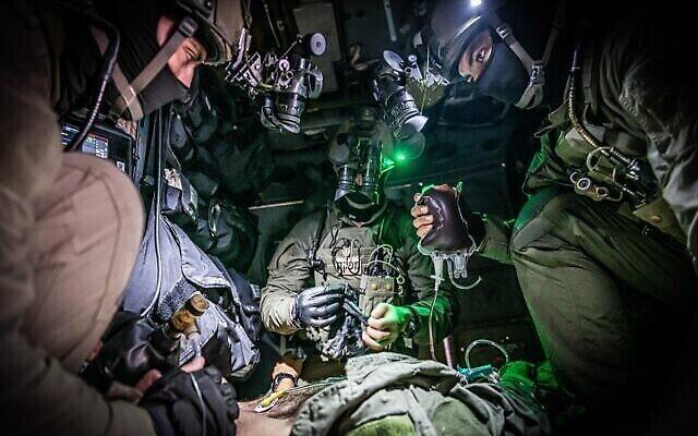 Des soldats de l'Unité 669 d'élite de l'Armée de l'Air israélienne participent à un exercice sur cette photo sans date. (Armée israélienne)