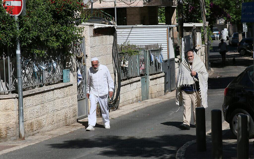 Barashi street à Jérusalem, qui porte le nom d' Yitzhak Barashi, rabbin né au Kurdistan qui a combattu pendant la guerre de l'Indépendance (Crédit : Shmuel Bar-Am)