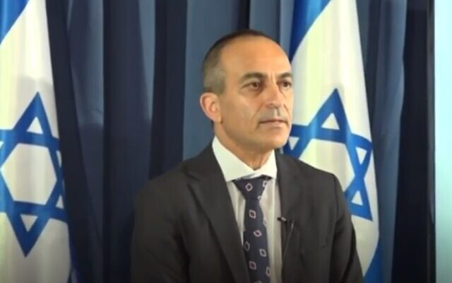 Le professeur Ronni Gamzu lors d'une conférence de presse, le 28 juillet 2020 (Caqpture d'écran YouTube)