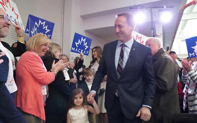 Peter MacKay, candidat à la direction du Parti conservateur du Canada, lors d'un événement de campagne, juillet 2020. (Autorisation)