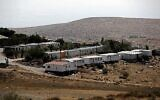 Une vue d'ensemble de l'implantation israélienne de Mitzpe Kramim en Cisjordanie, le 29 août 2018. (AFP / THOMAS COEX)
