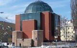 La nouvelle synagogue de Graz, en Autriche. (Crédit : Willard / CC BY-SA 3.0 at)