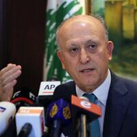 Le ministre de la Justice libanais démissionnaire, Ashraf Rifi, s'exprime lors d'une conférence de presse à son domicile à Beyrouth, au Liban, le 2 septembre 2016. (AP Photo/Bilal Hussein)