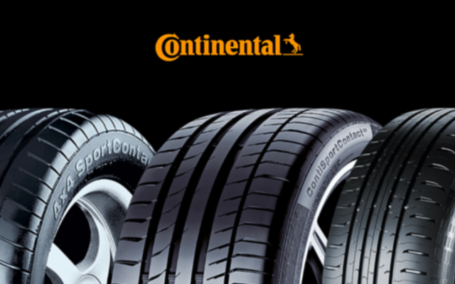 Image publicitaire de la marque de pneus Continental. (Crédit : Continental)