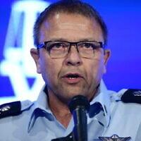 Motti Cohen, chef temporaire de la police israélienne, prend la parole lors de la conférence annuelle sur la justice à Airport City, près de Tel Aviv, le 3 septembre 2019. (Tomer Neuberg / Flash90)