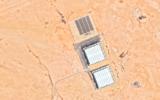 Deux bâtiments, situés près de l'institut de recherche du village solaire d'Arabie Saoudite, qui, selon certains analystes, pourraient être des installations nucléaires. (Capture d'écran Google Earth)