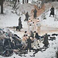 """Image tirée du film """"The Mover"""" illustrant l'infâme massacre de Rumbula, en 1941. (Autorisation du Washington Jewish Film Festival)"""