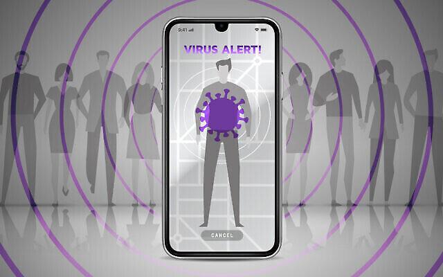 Image illustrative d'une application de traçage du coronavirus (iStock)