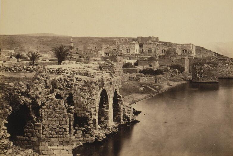 Une photo de la ville de Tibériade prise depuis le sud par Francis Firth, vers 1862. (Bibliothèque du Congrès)