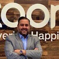 Mitch Tarica est le directeur des ventes pour l'Amérique du Nord chez Zoom . (Autorisation :  Tarica via JTA)
