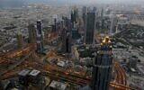 Une vue de Dubaï, aux Emirats arabes unis, le 29 septembre 2018 (Crédit :Aijaz Rahi/AP)