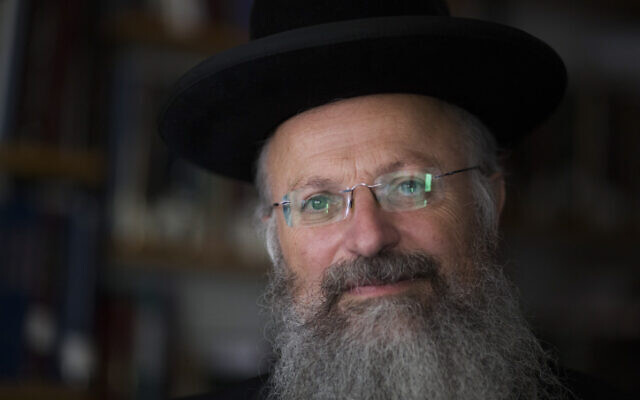 Le rabbin Shmuel Eliyahu en 2013. (Flash90/Yonatan Sindel)