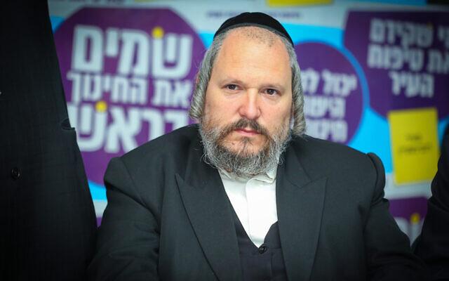 Meir Rubinstein, maire de l'implantation juive ultra-orthodoxe de Beitar Illit, située aux abords de Jérusalem. (Yaakov Lederman/FLASH90)