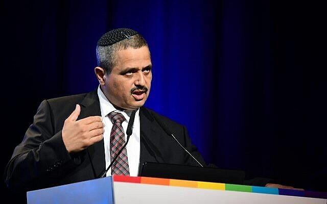L'ancien commissaire de la police israélienne, Roni Alsheich, s'exprime lors d'une conférence télévisée de la Douzième chaîne à Tel Aviv le 5 septembre 2019. (Flash90)
