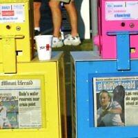 Le Miami Herald et son el Nuevo Herald vendus à Miami. (Art Seitz / Gamma-Rapho via Getty Images)