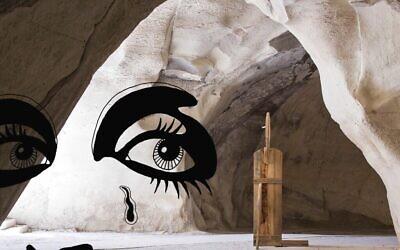 """L'une des créations de l'artiste Ivo Bisignano  présentées dans son exposition """"Human Forms"""" au parc national de Beit Guvrin, à voir jusqu'au 1er novembre 2020 (Autorisation : Ivo Bisignano)"""