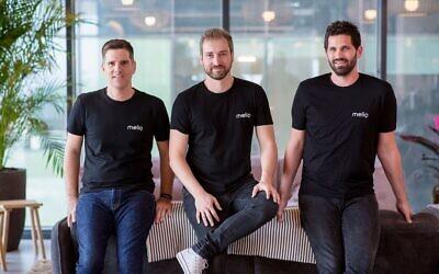 De gauche à droite, le directeur technique de Melio, Ilan Atias, le PDG Matan Bar et le directeur d'exploitation Ziv Paz. (Autorisation).