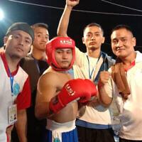 Le champion de kickboxing Obed Hrangchal a remporté des médailles en Inde dans plusieurs arts martiaux avant de s'installer en Israël. (Autorisation : Shavei Israel/via JTA)