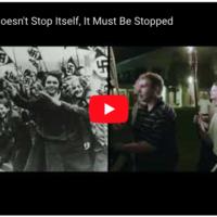 """Publicité du Jewish Democratic Council of America pour les élections américaines 2020, comparanty """"l'enhardissement du nationalisme blanc"""" sous le président américain Donald Trump à la montée des Nazis dans l'Allemagne des années 1930. (Copie d'écran YouTube)"""