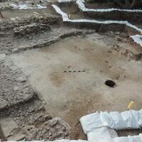 Emplacement de la cave à vin sur le site archéologique de Tel Kabri.