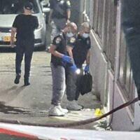 La scène d'un double homicide présumé à Nazareth, le 17 septembre 2020 (Crédit : Police israélienne)
