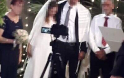 La mariée, victime d'une crise cardiaque lors de son mariage, est décédée au centre médical Soroka, dans le sud d'Israël, le 9 septembre 20202. (Capture d'écran/Treizième chaîne)