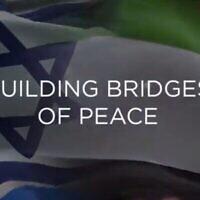 Capture d'écran d'un appel vidéo entre Mohamed Khalifa Al-Mubarak, directeur de cabinet du ministère de la culture et du tourisme d'Abu Dhabi, et le directeur général du ministère israélien des Affaires étrangères, Alon Ushpiz, 17 septembre 2020. (Capture d'écran)