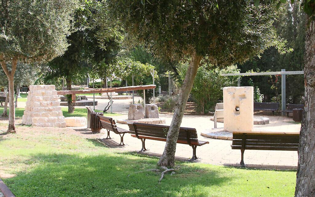 Un petit parc dans le jardin écologique de Had Hasharon. (Shmuel Bar-Am)