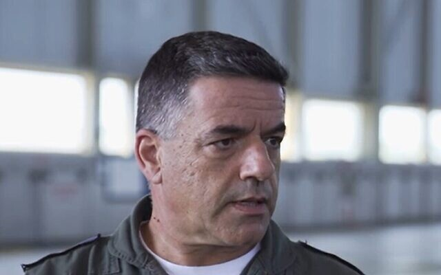 Amikam Norkin, chef des forces aériennes de Tsahal, lors d'une interview diffusée le 24 septembre 2020 (Capture d'écran)