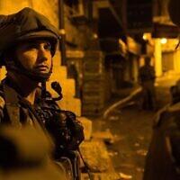 Tsahal effectue des raids de nuit en Cisjordanie, le 1er août 2016 (Tsahal)