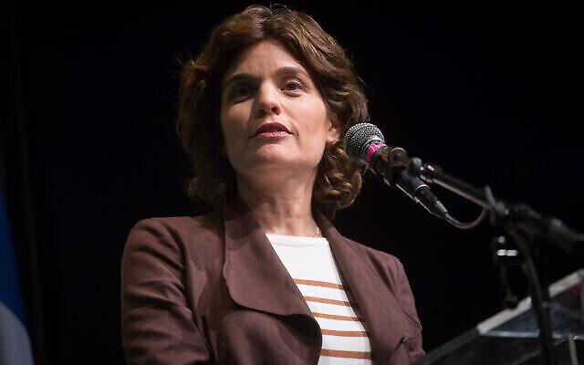 La députée Meretz Tamar Zandberg participe à une conférence du parti à Tel Aviv, le 14 janvier 2020. (Miriam Alster/Flash90)