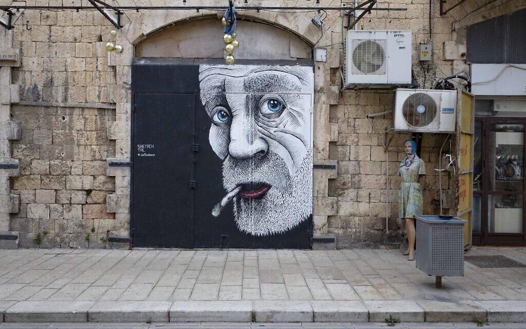 Street art à Tel Aviv par Shetach Tal pour le projet #Jaffadoors. (Lord K2)