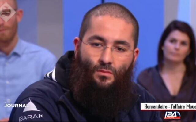Le président de l'ONG islamique BarakaCity, Driss Yemmou, sur le plateau de Canal +  en 2016. (Capture d'écran)