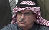 L'envoyé du Qatar pour la bande de Gaza, Mohammed Al-Emadi, assiste à une conférence de presse à l'hôpital Shifa de la ville de Gaza, le 19 février 2018. (AP/Khalil Hamra)