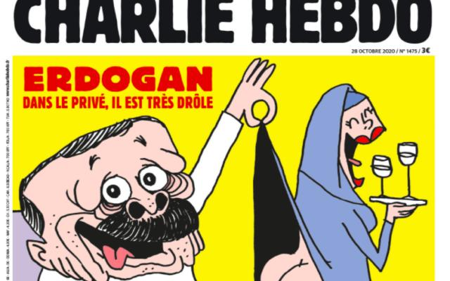 La Une de «Charlie Hebdo» de cette semaine, caricaturant le président turc Erdogan. (Crédit : Charlie Hebdo)