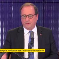 François Hollande sur France Info, le 28 octobre 2020. (Crédit : FRANCEINFO / RADIOFRANCE)