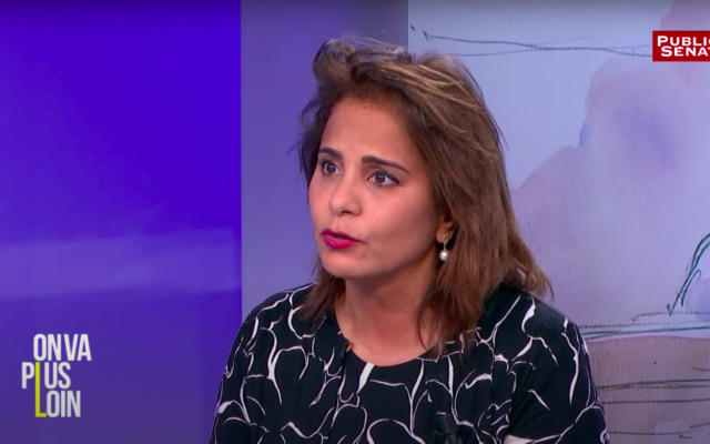 Samia Maktouf. (Crédit : Capture d'écran / Public Sénat)